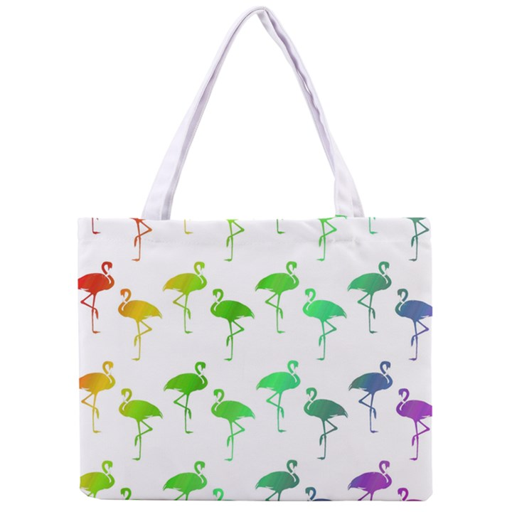 Flamingo Pattern Rainbow  Tiny Tote Bag