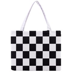 Checkered Flag Race Winner Mosaic Tile Pattern Tiny Tote Bag