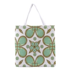 Luxury Decorative Pattern Collage Grocery Tote Bag