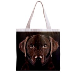 Chocolate Lab Grocery Tote Bag