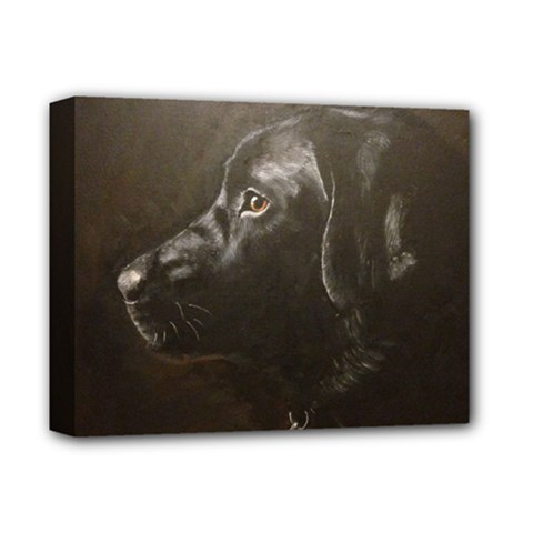 Black Lab Deluxe Canvas 14  X 11  (framed)
