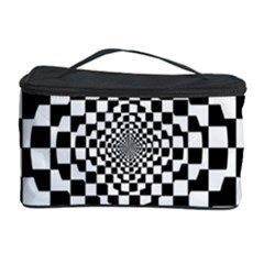 Checkered Flag Race Winner Mosaic Tile Pattern Repeat Cosmetic Storage Case