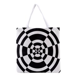 Checkered Flag Race Winner Mosaic Tile Pattern Round Pie Wedge Grocery Tote Bag