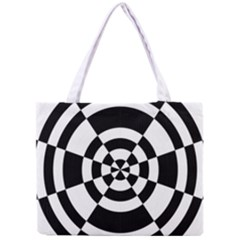 Checkered Flag Race Winner Mosaic Tile Pattern Round Pie Wedge Tiny Tote Bag