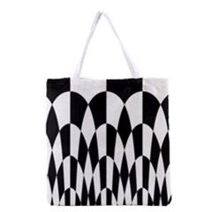 Checkered Flag Race Winner Mosaic Pattern Curves  Grocery Tote Bag