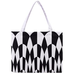Checkered Flag Race Winner Mosaic Pattern Curves  Tiny Tote Bag