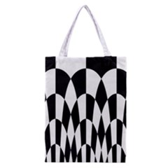 Checkered Flag Race Winner Mosaic Pattern Curves  Classic Tote Bag