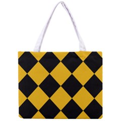 Harlequin Diamond Gold Black Tiny Tote Bag