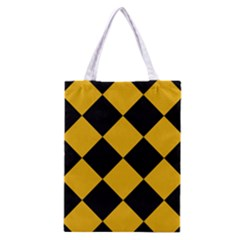 Harlequin Diamond Gold Black Classic Tote Bag