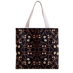 Victorian Style Grunge Pattern Grocery Tote Bag