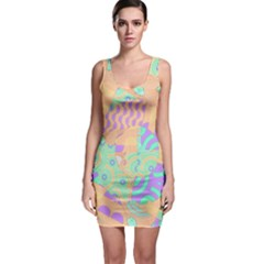 Tropical Summer Fruit Orange Lime Berry Bodycon Dress