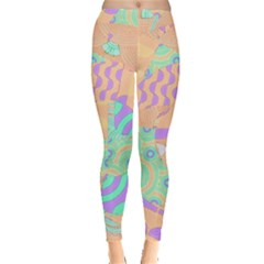 Tropical Summer Fruit Orange Lime Berry Leggings