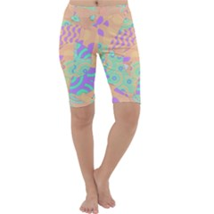 Tropical Summer Fruit Orange Lime Berry Cropped Leggings