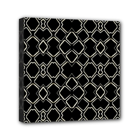 Geometric Abstract Pattern Futuristic Design  Mini Canvas 6  X 6  (framed)