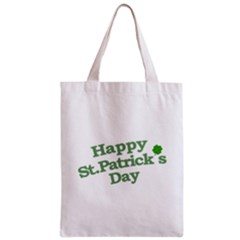 Happy St Patricks Text With Clover Graphic Classic Tote Bag