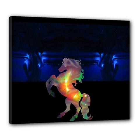 Wings At Night By Saprillika Canvas 24  X 20  (framed)
