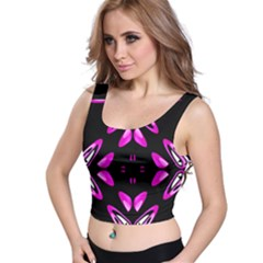 Abstract Pain Frustration Crop Top