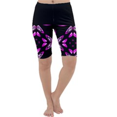 Abstract Pain Frustration Cropped Leggings