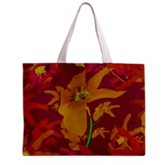 Tropical Hawaiian Style Lilies Collage Tiny Tote Bag