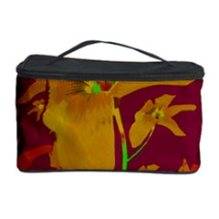 Tropical Hawaiian Style Lilies Collage Cosmetic Storage Case
