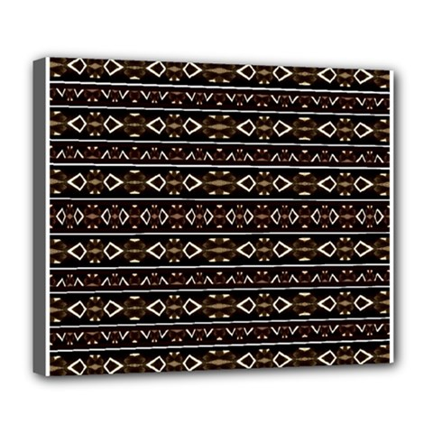 Tribal Dark Geometric Pattern03 Deluxe Canvas 24  X 20  (framed)