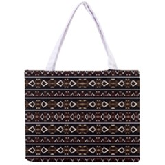 Tribal Dark Geometric Pattern03 Tiny Tote Bag
