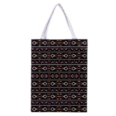 Tribal Dark Geometric Pattern03 Classic Tote Bag