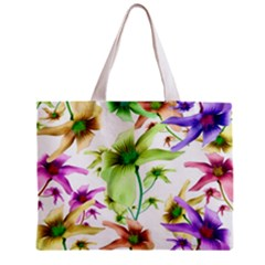 Multicolored Floral Print Pattern Tiny Tote Bag