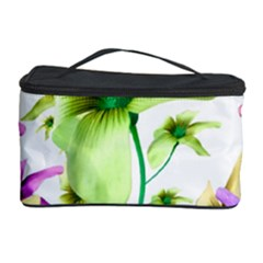 Multicolored Floral Print Pattern Cosmetic Storage Case