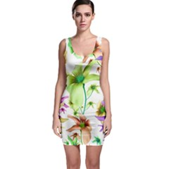 Multicolored Floral Print Pattern Bodycon Dress