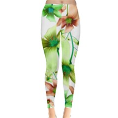 Multicolored Floral Print Pattern Leggings