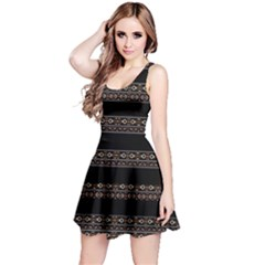Tribal Dark Geometric Pattern03 Sleeveless Dress
