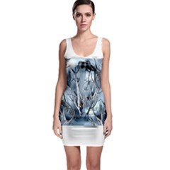 Abstract Of Frozen Bush Bodycon Dress