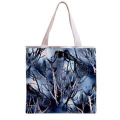 Abstract Of Frozen Bush Grocery Tote Bag