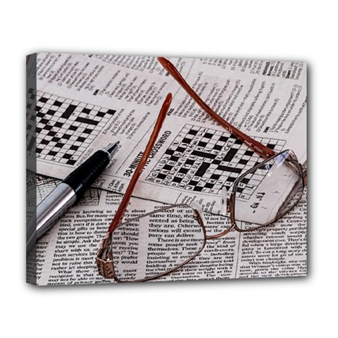 Crossword Genius Canvas 14  x 11  (Framed)