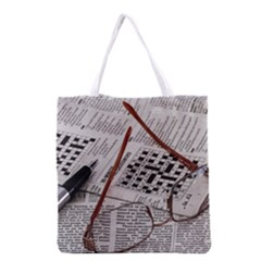 Crossword Genius Grocery Tote Bag