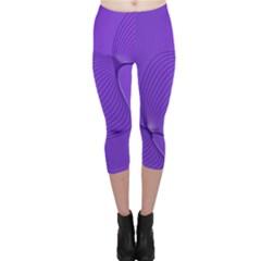 Twisted Purple Pain Signals Capri Leggings