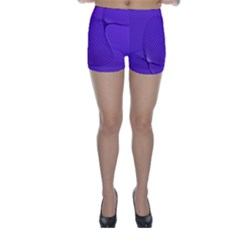 Twisted Purple Pain Signals Skinny Shorts