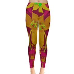 Tropical Hawaiian Style Lilies Collage Leggings