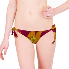 Tropical Hawaiian Style Lilies Collage Bikini Bottom