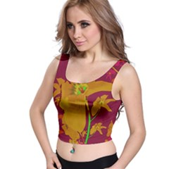 Tropical Hawaiian Style Lilies Collage Crop Top