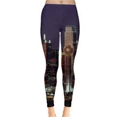 Dallas Skyline At Night Leggings