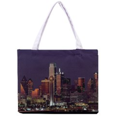 Dallas Skyline At Night Tiny Tote Bag
