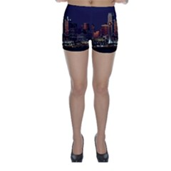 Dallas Skyline At Night Skinny Shorts