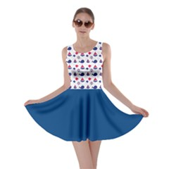 Nautical Sea Pattern Skater Dress