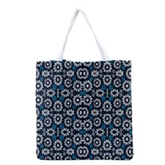 Floral Print Seamless Pattern In Cold Tones  Grocery Tote Bag