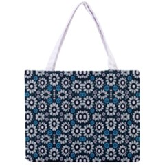 Floral Print Seamless Pattern In Cold Tones  Tiny Tote Bag