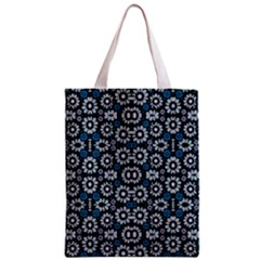 Floral Print Seamless Pattern in Cold Tones  Classic Tote Bag