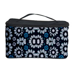 Floral Print Seamless Pattern in Cold Tones  Cosmetic Storage Case