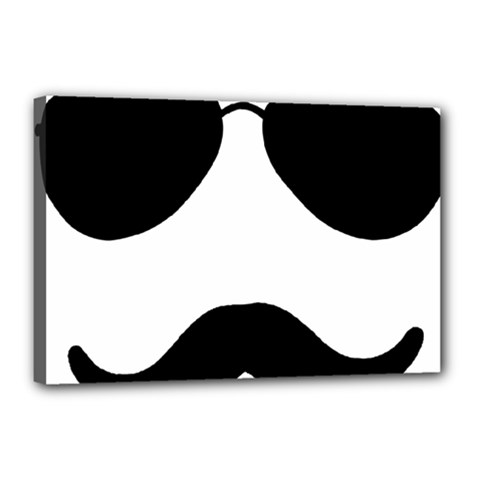 Aviators Tache Canvas 18  X 12  (framed)
